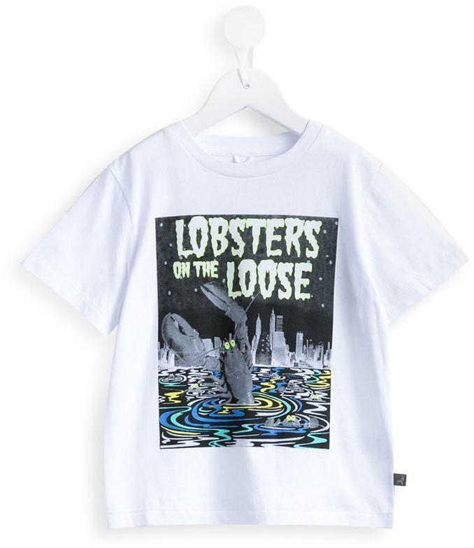 weißes bedrucktes T-shirt von Stella McCartney