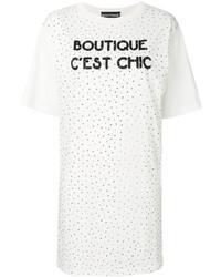 weißes beschlagenes Freizeitkleid von Moschino