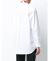 weißes besticktes Businesshemd von Simone Rocha