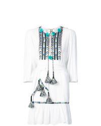 weißes besticktes Folklore Kleid
