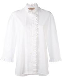 weißes besticktes Hemd von Burberry