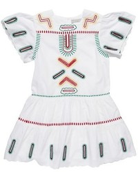 weißes besticktes Kleid