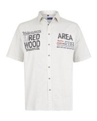 weißes besticktes Kurzarmhemd von Big fashion