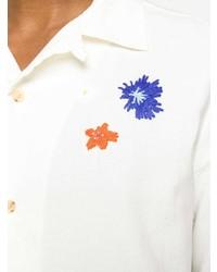 weißes besticktes Kurzarmhemd von McQ