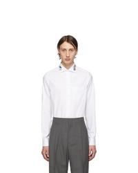 weißes besticktes Langarmhemd von Gucci