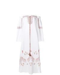 weißes besticktes schulterfreies Kleid von Ermanno Scervino