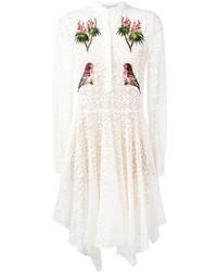 weißes besticktes Spitzekleid von Stella McCartney