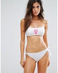 weißes Bikinioberteil von Moschino