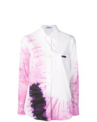 weißes Mit Batikmuster Businesshemd von Prada