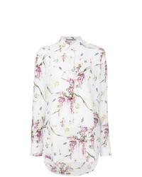 weißes Businesshemd mit Blumenmuster von Ermanno Scervino