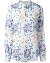 weißes Businesshemd mit Blumenmuster von Forte Forte
