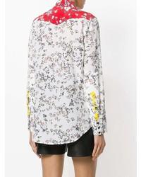 weißes Businesshemd mit Blumenmuster von Rag & Bone