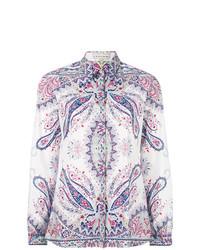weißes Businesshemd mit Paisley-Muster von Etro