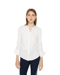 weißes Businesshemd von Mango