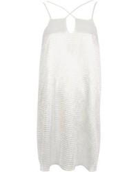 weißes Camisole-Kleid aus Satin