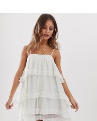 weißes Camisole-Kleid aus Spitze von White Sand