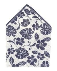 weißes Einstecktuch mit Blumenmuster von Eton