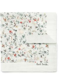 weißes Einstecktuch mit Blumenmuster von Paul Smith
