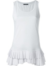 weißes Trägershirt mit Falten von Alexander McQueen