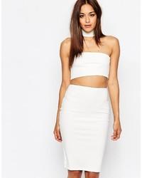 Weißes Figurbetontes Kleid mit Ausschnitten von Missguided