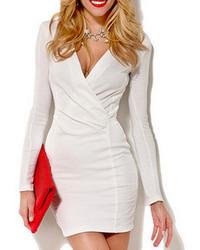 Weißes Figurbetontes Kleid von Choies
