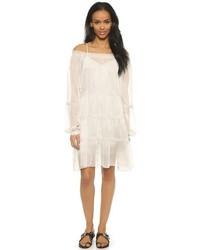 weißes Folklore Kleid