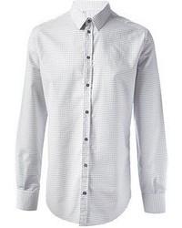 weißes gepunktetes Businesshemd