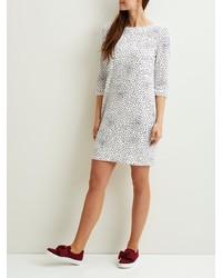weißes gepunktetes gerade geschnittenes Kleid von Vila