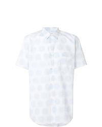 weißes gepunktetes Kurzarmhemd von Comme Des Garcons SHIRT