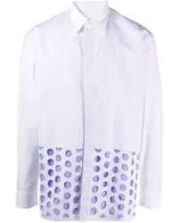 weißes gepunktetes Langarmhemd von Maison Margiela