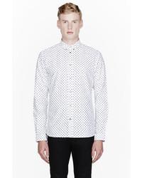 weißes gepunktetes Langarmhemd von Paul Smith