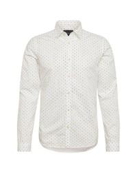 weißes gepunktetes Langarmhemd von Scotch & Soda