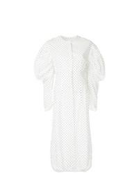 weißes gepunktetes Shirtkleid von Georgia Alice