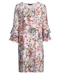 weißes gerade geschnittenes Kleid mit Blumenmuster von My Own