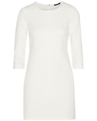 weißes gerade geschnittenes Kleid mit Reliefmuster von Theory