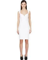 weißes gerade geschnittenes Kleid von Dsquared2