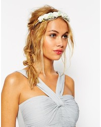 weißes Haarband mit Blumenmuster von Asos