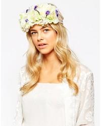 weißes Haarband mit Blumenmuster von Johnny Loves Rosie