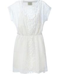 weißes Häkel Folklore Kleid von Forte Forte