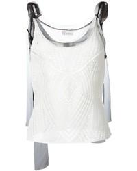 weißes Häkel Trägershirt von RED Valentino