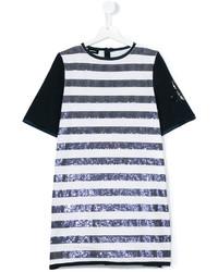 weißes horizontal gestreiftes Kleid von Diesel