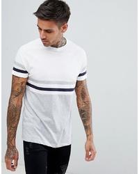 weißes horizontal gestreiftes T-Shirt mit einem Rundhalsausschnitt von ASOS DESIGN