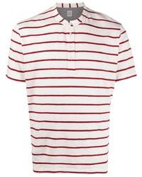 weißes horizontal gestreiftes T-shirt mit einer Knopfleiste von Eleventy