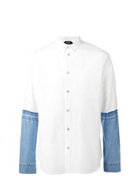 huge discount f860d 3b210 Modische weißes Jeanshemd für Herren für Winter 2019 kaufen ...