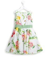 weißes Kleid mit Blumenmuster von MonnaLisa