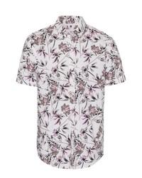 weißes Kurzarmhemd mit Blumenmuster von Brax