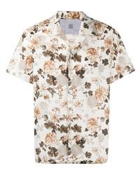 weißes Kurzarmhemd mit Blumenmuster von Eleventy