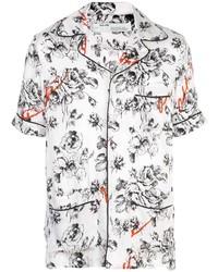 weißes Kurzarmhemd mit Blumenmuster von Off-White