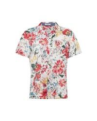 weißes Kurzarmhemd mit Blumenmuster von Pepe Jeans