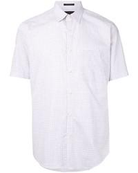 weißes Kurzarmhemd mit Karomuster von D'urban